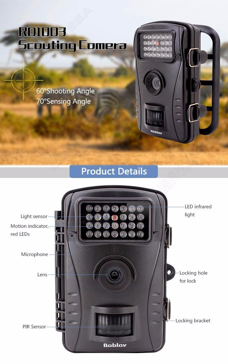 2016 RD1003 hunting trail camera hunting camera china manufacturer