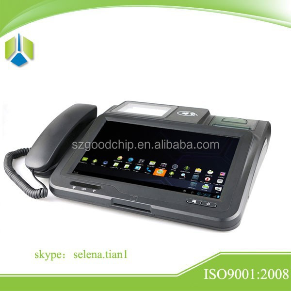 New style android system Restaurant payment pos system with smart chip card reader ----Gc039B