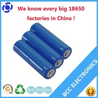 Cylindrical lithium ion battery 18650 3.7V 2000mah