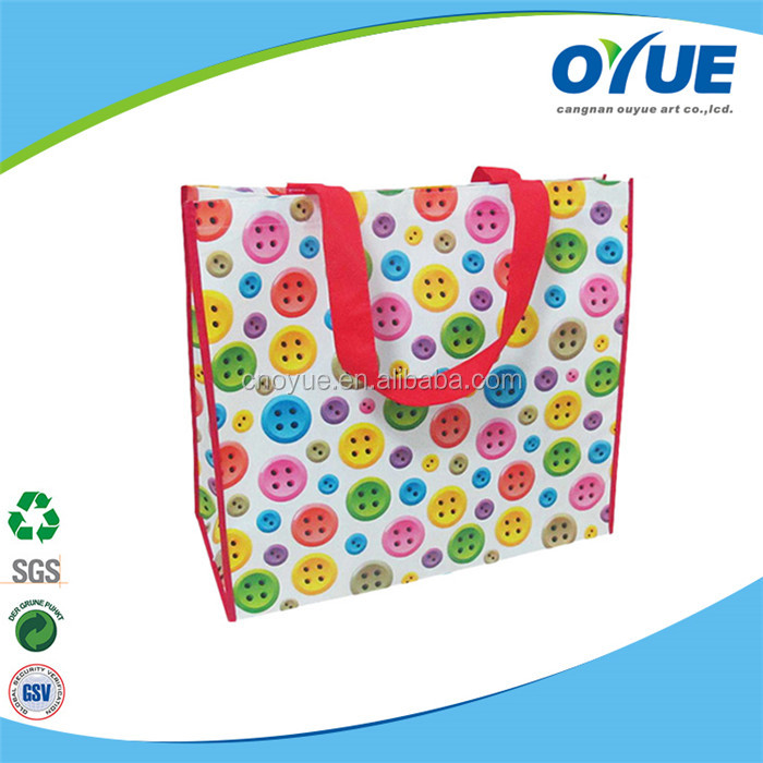 Full Printing Lovely eco-friendly non woven shopping carry bags
