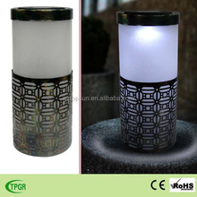 antique style plastic solar table lamp for home and garden decoration