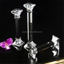 wholesale crystal single pillar candle holder/custom candle holder/crystal candle stand candlesticks holder for wedding