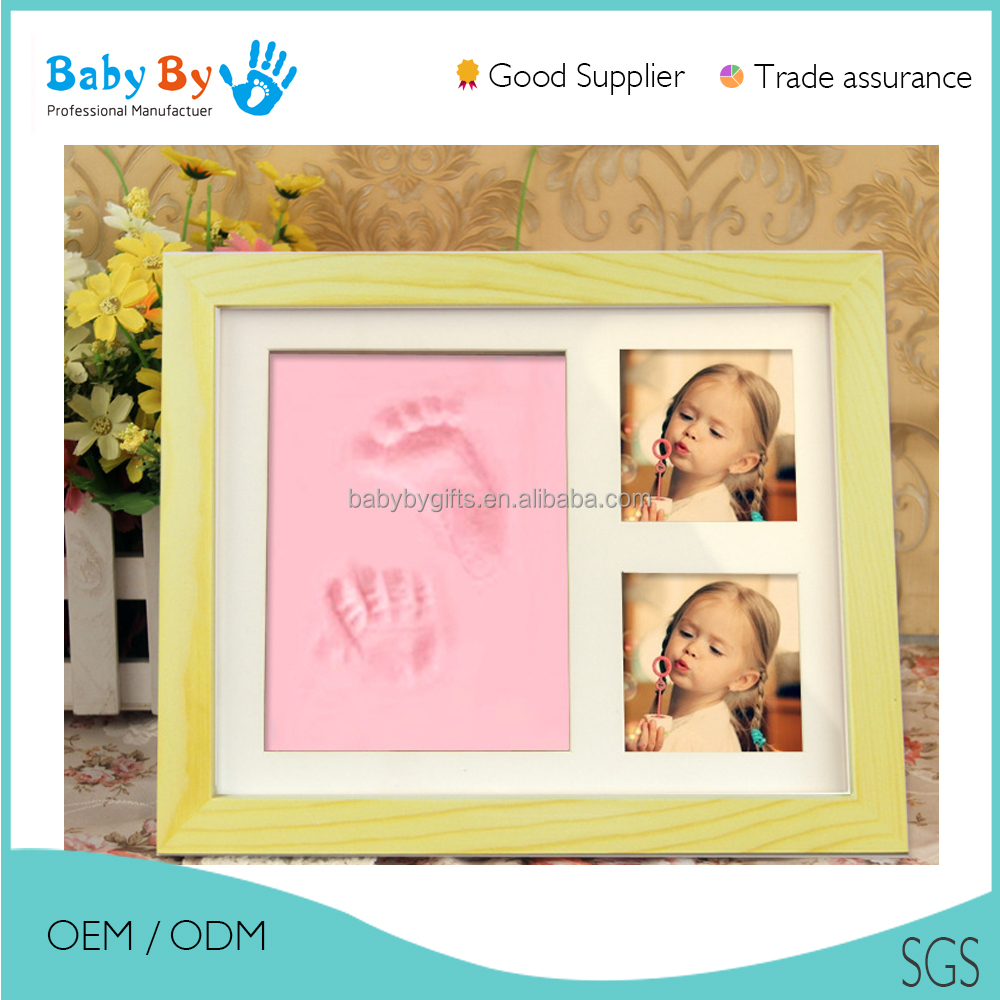 Love memorial photo picture frame for baby handprint and footprints FROM BABYBY