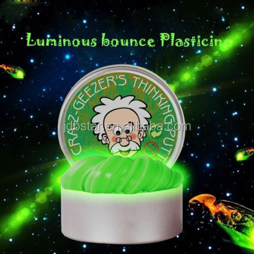 kids play dough Glow in dark bouncing putty magnetic slime