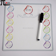 Most popular advertising promotion magnetic erasable plan board with calendar