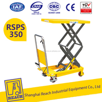 Warehouse New Style Mini Hand Hydraulic Scissor Lift Table with double scissors
