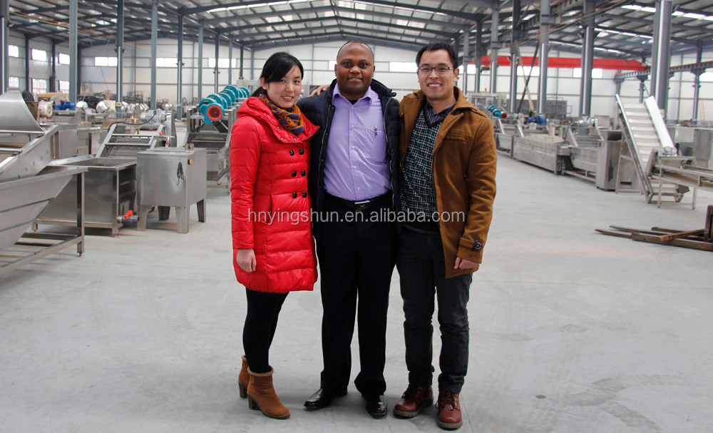 Trade Assurance stainless steel semi automatic potato chips production line