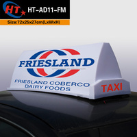 Car roof sign led magnet advertising taxi dome