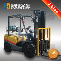 japaness engine 3t full gas lpg forklift with brand wheel