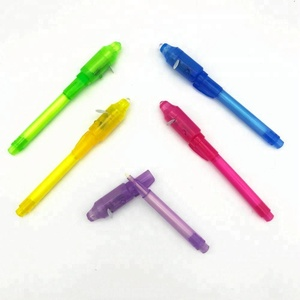 HF2009 candy color secret message invisible light pen with costom logo