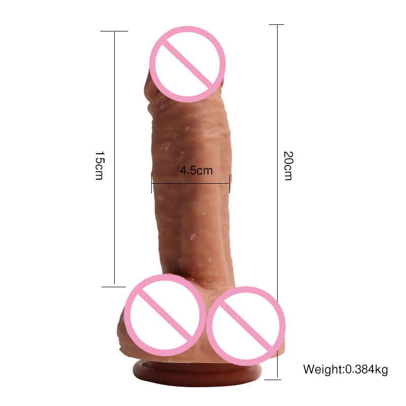 2018 XISE new product double layer silicone dildo for women masturbation toys sex adult artificial penis