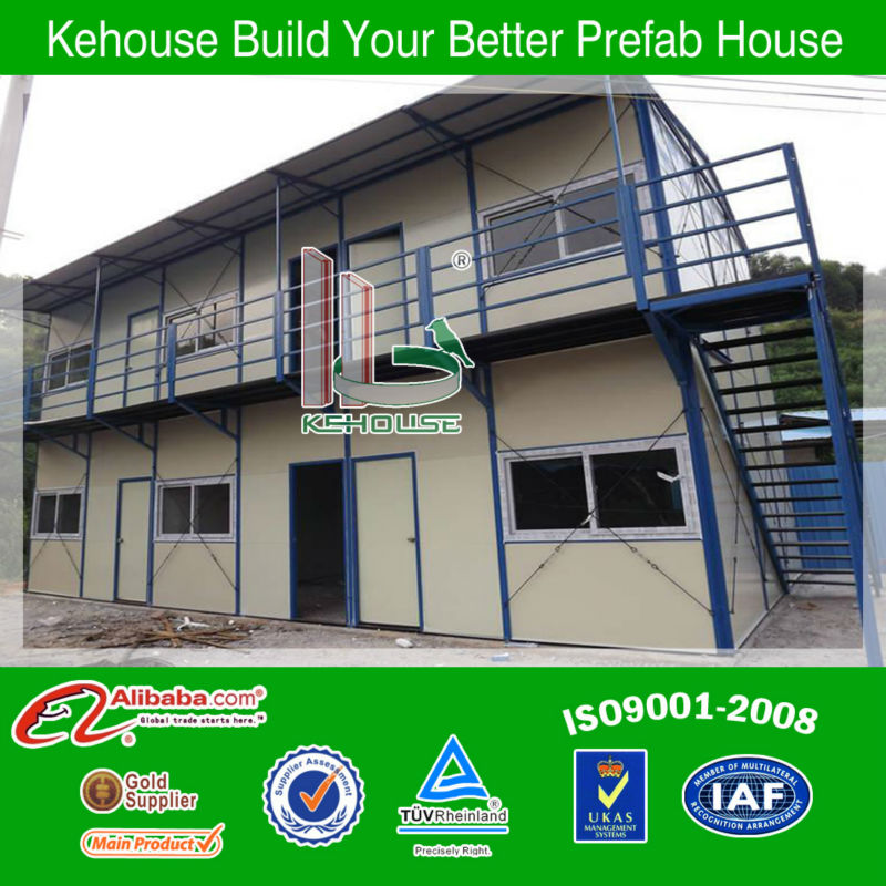 Two-storey EPS sandwich panel wall movable site office,prefab living home,portable building