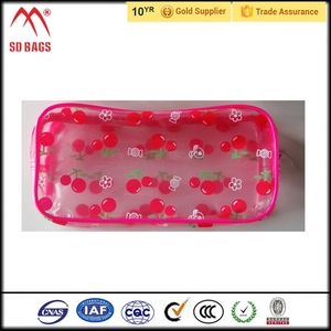 Factory customized cheap lip shaped cosmetic bag , promotional cosmetic bag