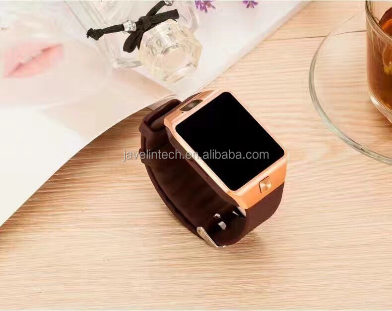 dz09 sim card smart phone watch and waterproof android watch with camera