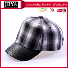 2016 new checked black and white perfect curve baseball cap