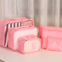 6 PCS Per Set Oxford Fabric Storage Bags Large Capacity Travel Collect Bags Luggage Folding Travel Bag