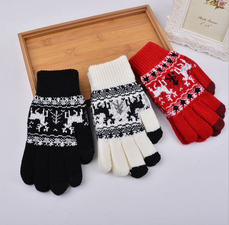 Wholesale popular winter knitted touch phone screen glove