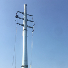 110KV Electrical Power Transmission Line Galvanized Steel Utility Pole