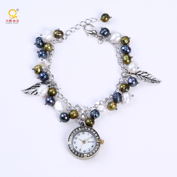 Fancy ladies bracelet wrist watch charm watch