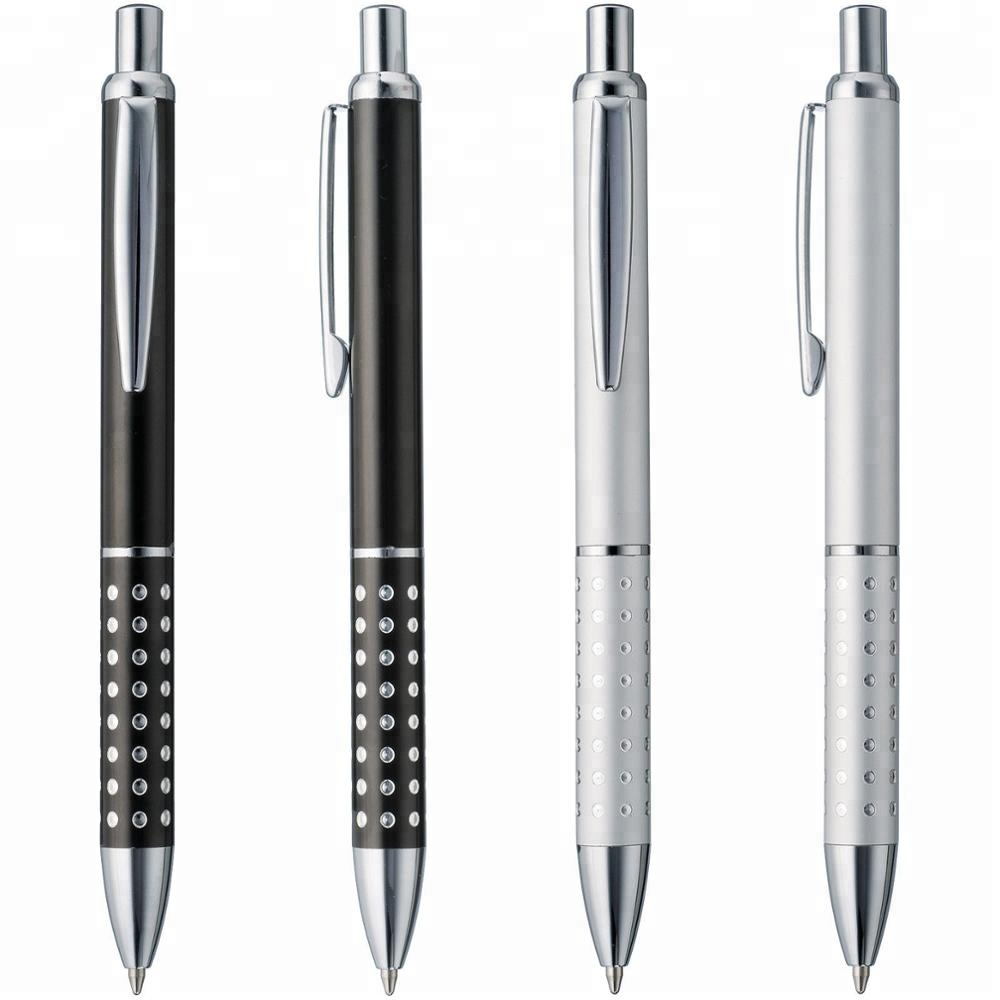 Metal Shiny Dot Deco Barrel Ball Pen Smooth Writing Ink Promotional <strong>Gift</strong> AD1226