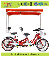 New style quadricycle 4 person surry bike tandem bicycle