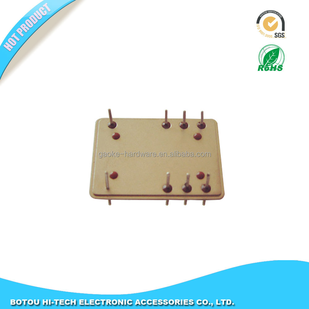 High precision sheet metal base of crystal oscillators