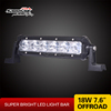New products Light weight slim single row 18W Cree Led Car Light bar