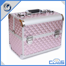 MLD-C116 Beautiful pink aluminium jewelry carrying case