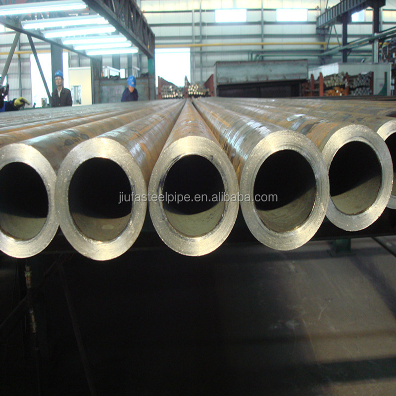 BG din2448 P11 P12 ST52 A106B thick wall carbon seamless steel pipe