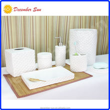 cheap price simple ceramic bathroom accessories sets