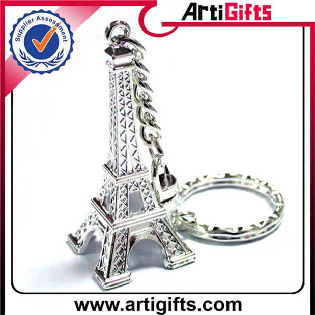 Custom plated 3D hot selling wedding souvenir key chains