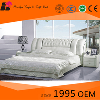Hot sale latest cheap white modern double king bed design bedroom furniture