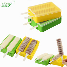 DIY Silicone Ice Cream Mould Colorful Ice Cream Bar Mold Popsicle Molds
