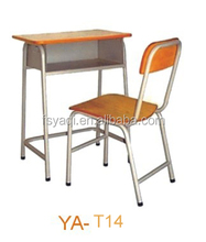 Commercial cheap price wood school table and chairs set YA-T14