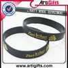 Promotional high quality custom screen printing silicone band