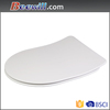 D shaped super thin WC toilet seat cover duroplast super thin soft close