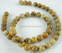 8mm Round Natural Semi Precious Picture Jasper Stone Beads Strings