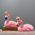 Home Decorative Pink Resin Flamingo Figurine