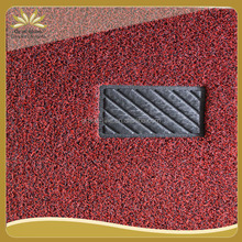 single color thin silk foam backing pvc coil mat roll/ entrance carpet