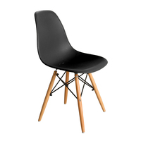 TANNIC Cheap Beech Wood Retro Models PP Plastic Rest Chair