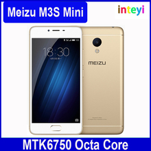 "Original Meizu M3S Mini Meilan M3S Mobile Phone MT6750 Octa Core 5.0"" 720P 2G RAM 16GB ROM 13MP 3020 mAh 4G VoLTE mTouch 2.1"