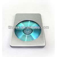 rectangular metal dvd case with clear pvc window