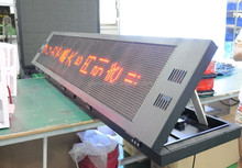 waterproof P10 P7.62 outdoor message/text scrolling/moving/running led display panel/led display sign