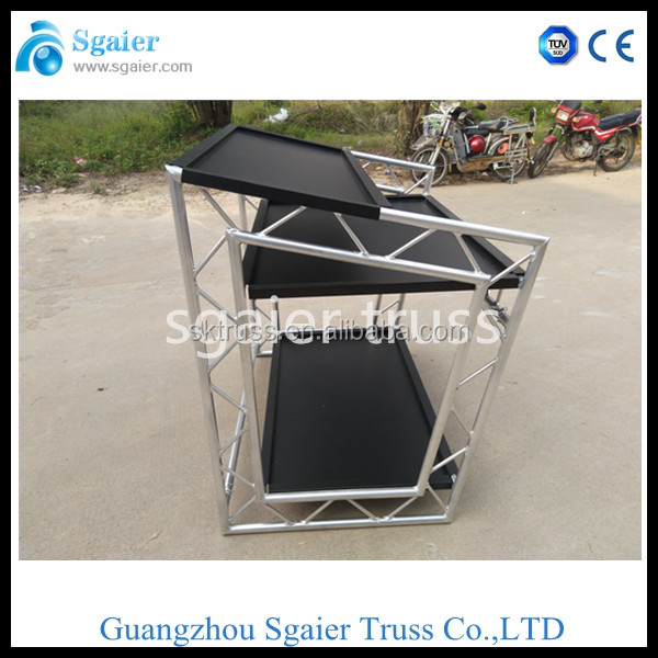 portable modern dj booth, dj booth table, dj booth truss