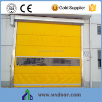 Motorized food industry industrial plastic roll up door / plastic rolling shutter door
