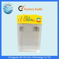 plastic clear opp bag with header