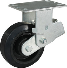 "6"" inch black 55mm rubber Galvanized bearing capacity 400kgs Shock Absorber caster"