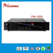 Hot sale PA system 2 Channel 1500W mixer amplifier PA subwoofer power amplifier PM1500