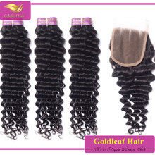 wholesale brazilian virgin hair water wave 4 bundle with closure, 5pc brazilian hair weave closure on sale