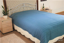outstanding grains embroidred blue coton fabric all size quilts/bedspread